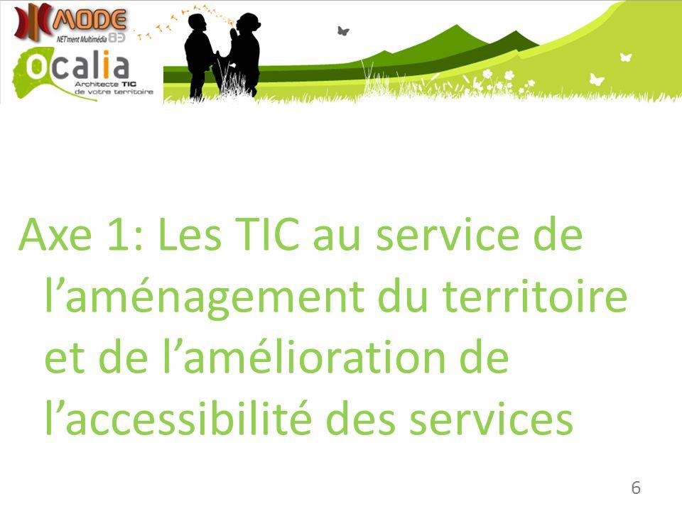 Axe 1: Les TIC au service de l'aménagement du territoire et de l'amélioration de l'accessibilité des services