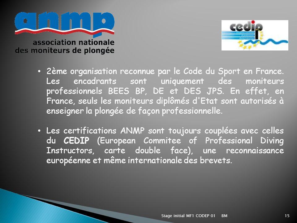 2ème organisation reconnue par le Code du Sport en France