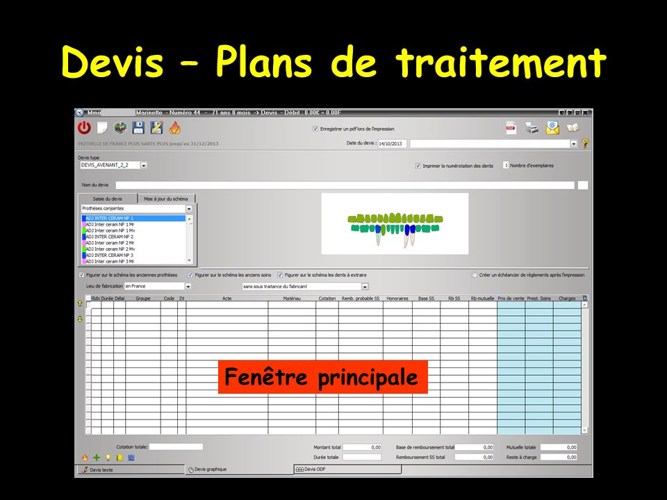 Devis – Plans de traitement