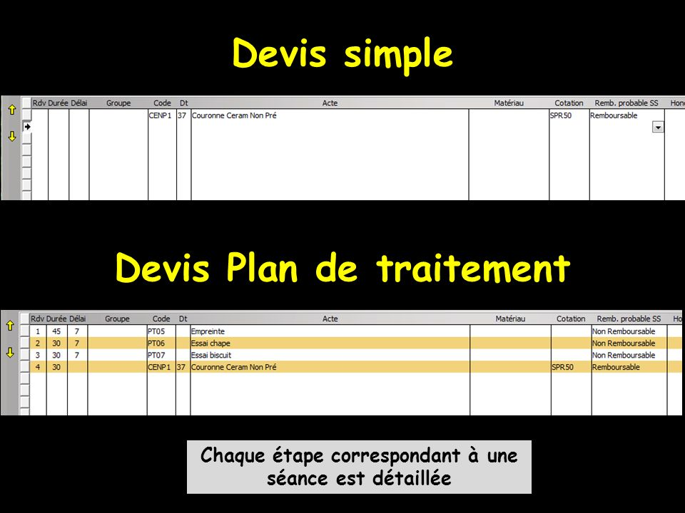 Devis simple Devis Plan de traitement
