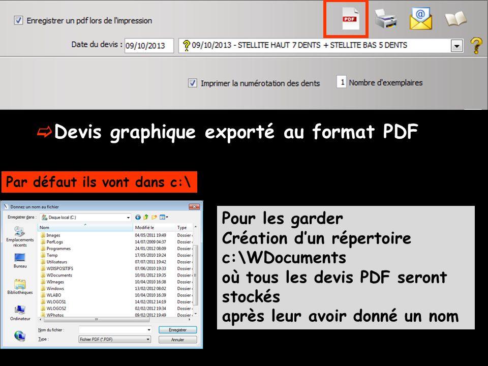 Devis graphique exporté au format PDF
