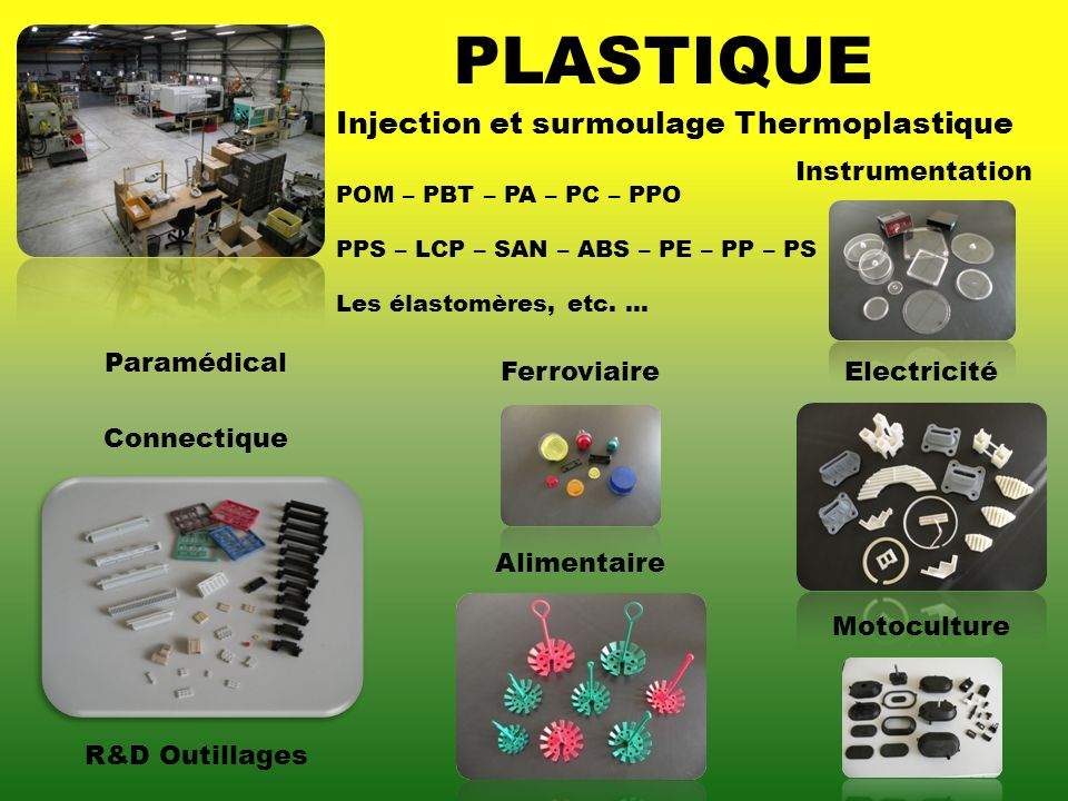 PLASTIQUE Injection et surmoulage Thermoplastique Instrumentation