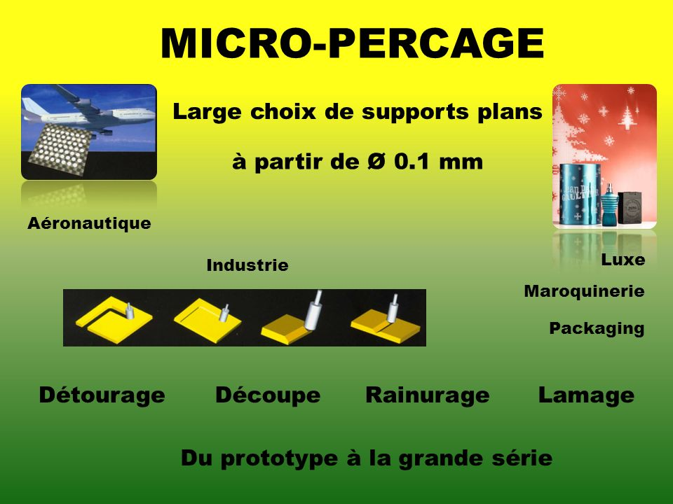 Large choix de supports plans