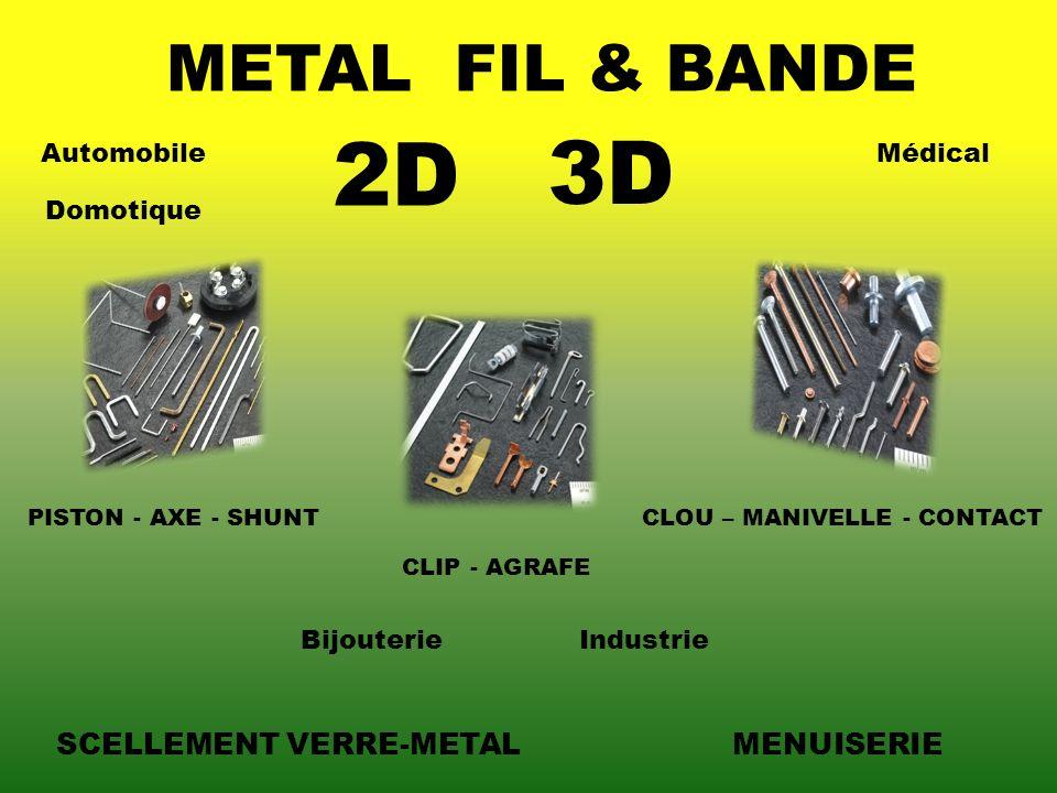 2D 3D METAL FIL & BANDE SCELLEMENT VERRE-METAL MENUISERIE Automobile