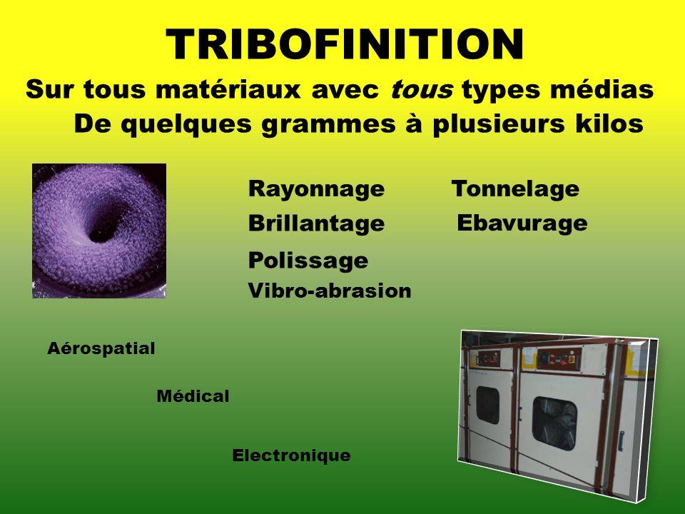 TRIBOFINITION Sur tous matériaux avec tous types médias