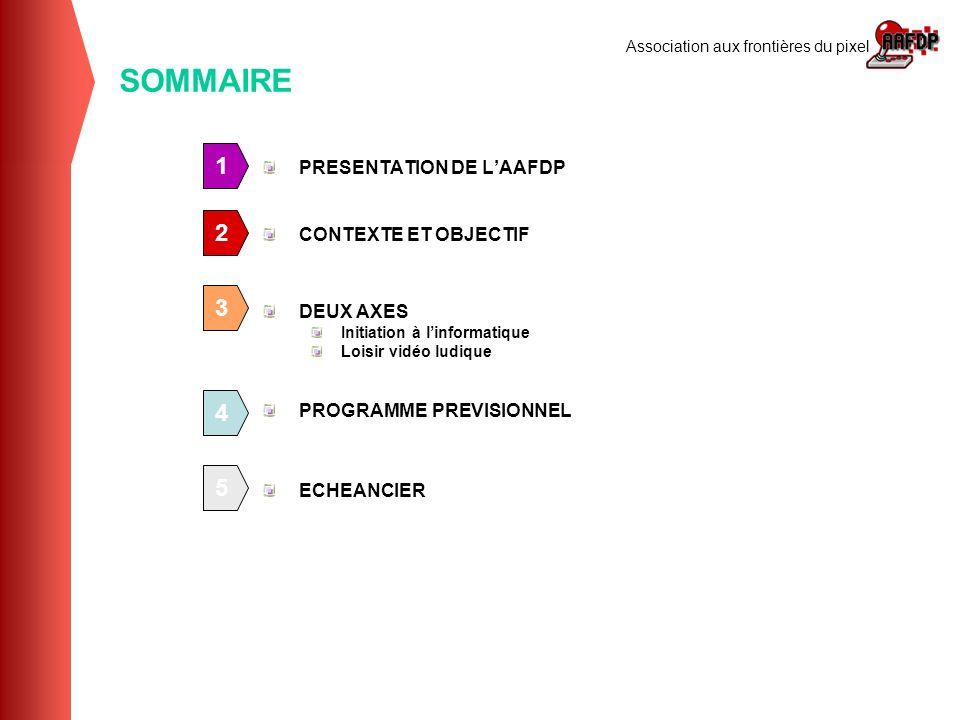 SOMMAIRE 1 2 3 4 5 PRESENTATION DE L'AAFDP CONTEXTE ET OBJECTIF