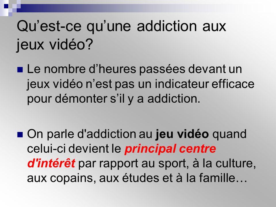 Qu'est-ce qu'une addiction aux jeux vidéo