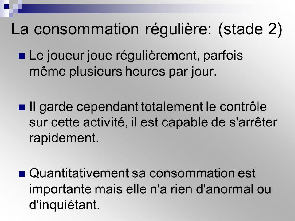 La consommation régulière: (stade 2)
