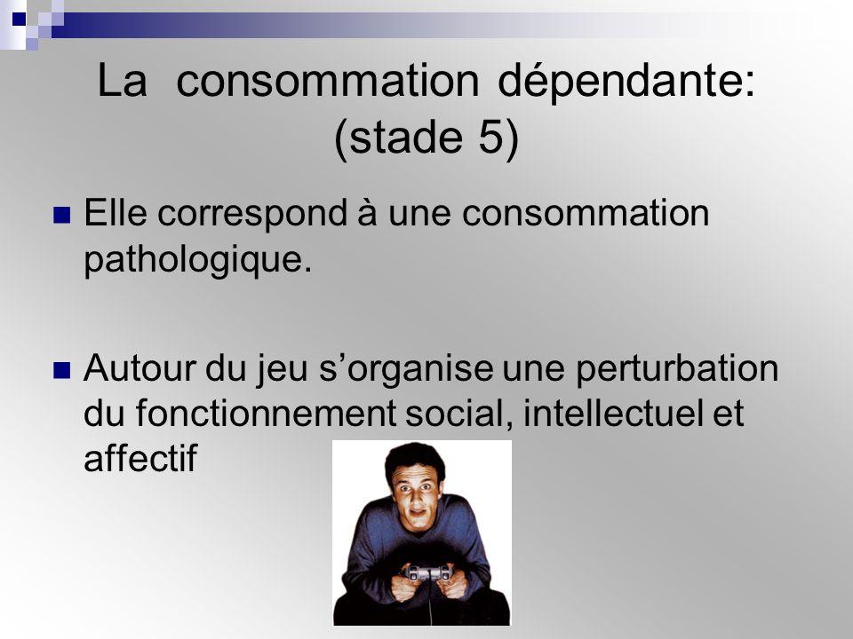 La consommation dépendante: (stade 5)