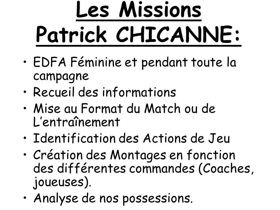 Les Missions Patrick CHICANNE: