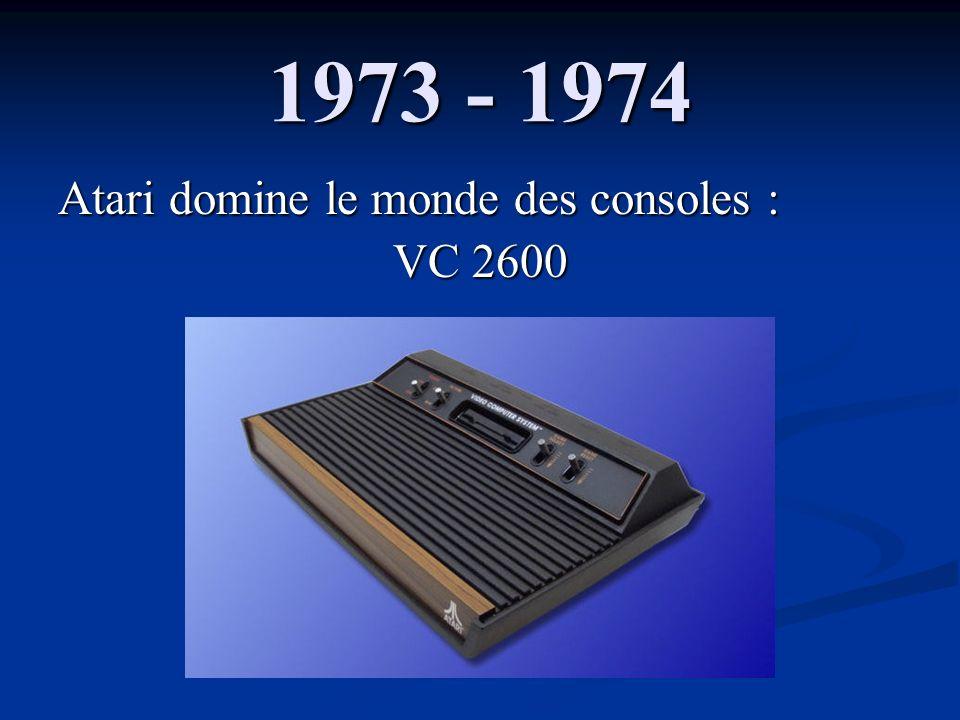 1973 - 1974 Atari domine le monde des consoles : VC 2600
