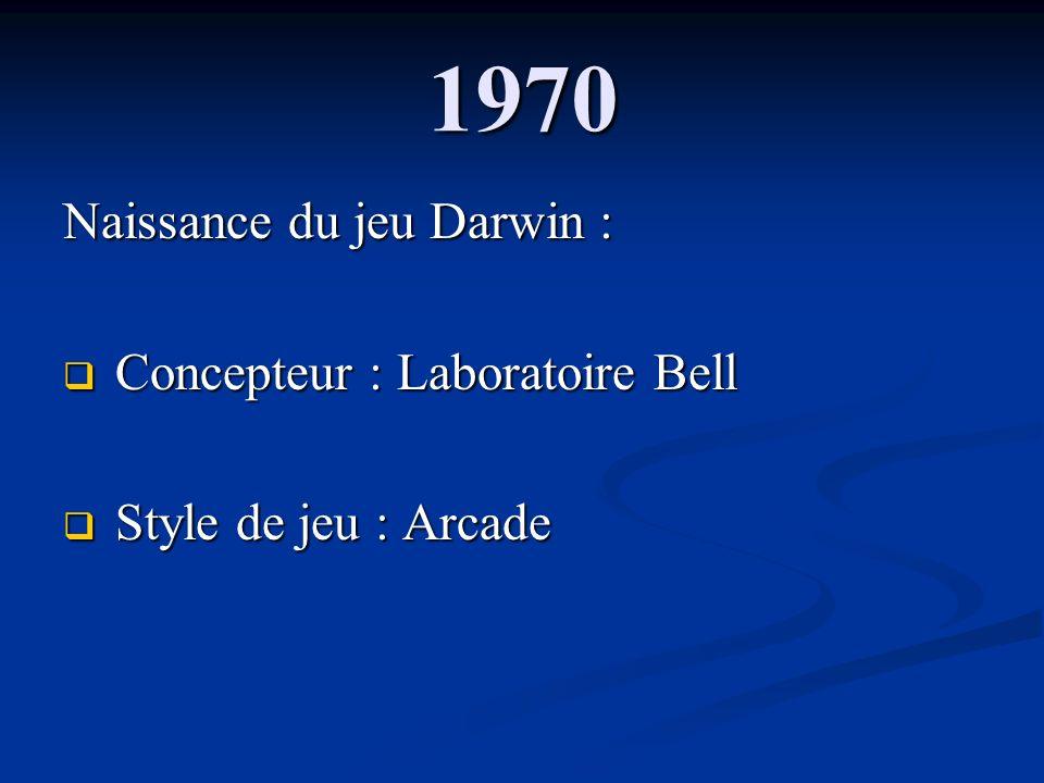1970 Naissance du jeu Darwin : Concepteur : Laboratoire Bell