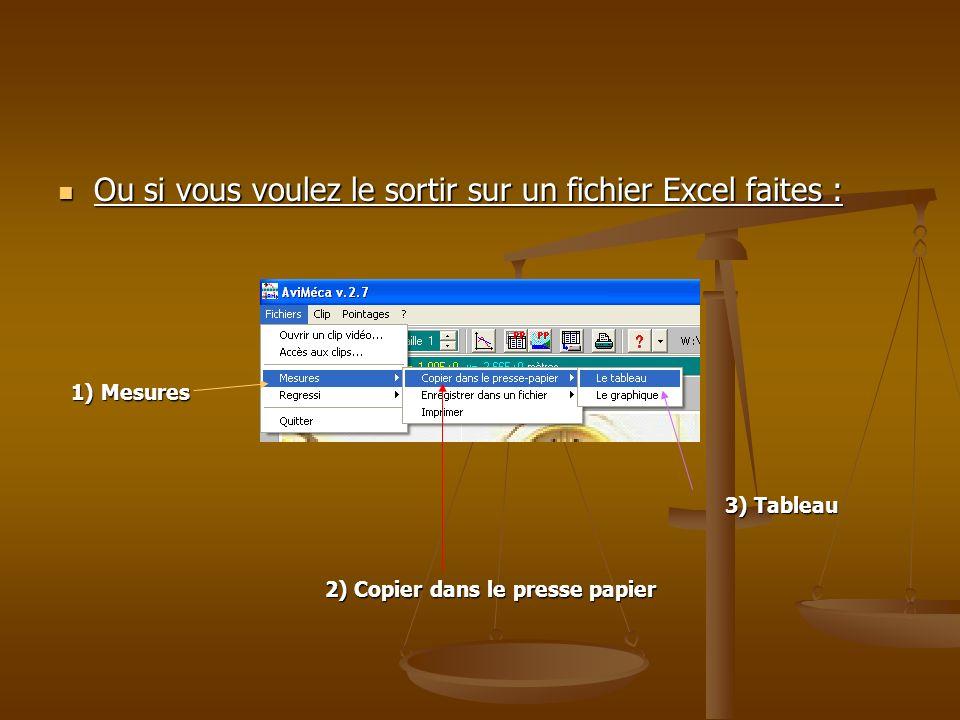 Ou si vous voulez le sortir sur un fichier Excel faites :