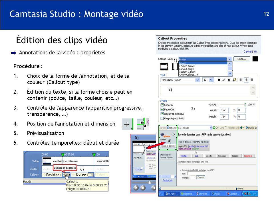 Camtasia Studio : Montage vidéo