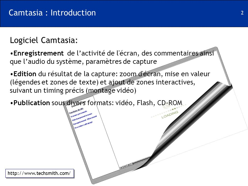 Camtasia : Introduction