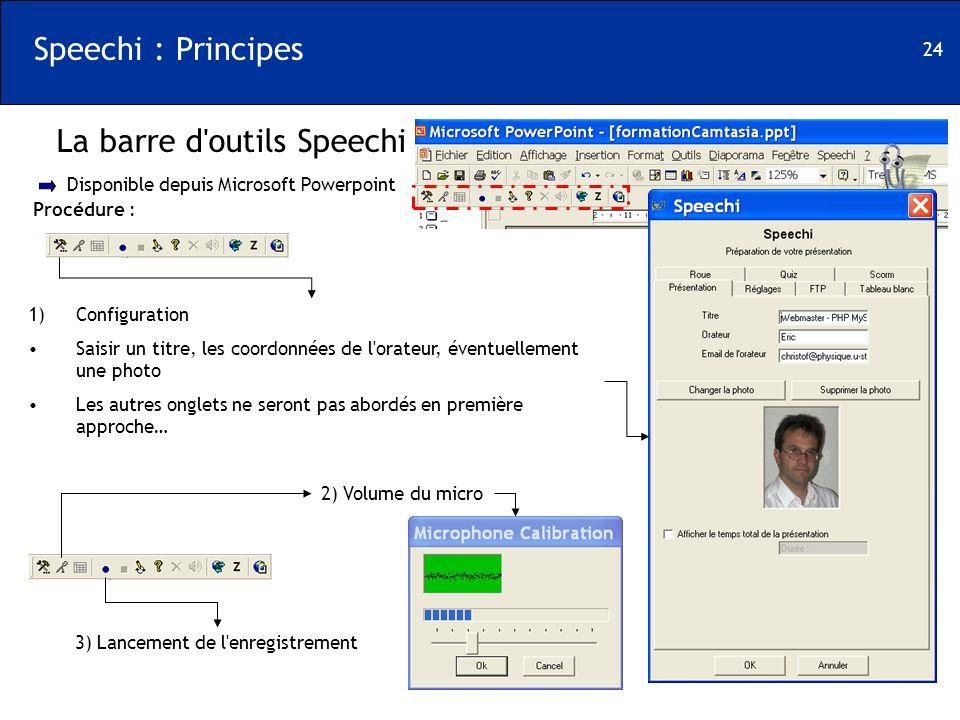 La barre d outils Speechi