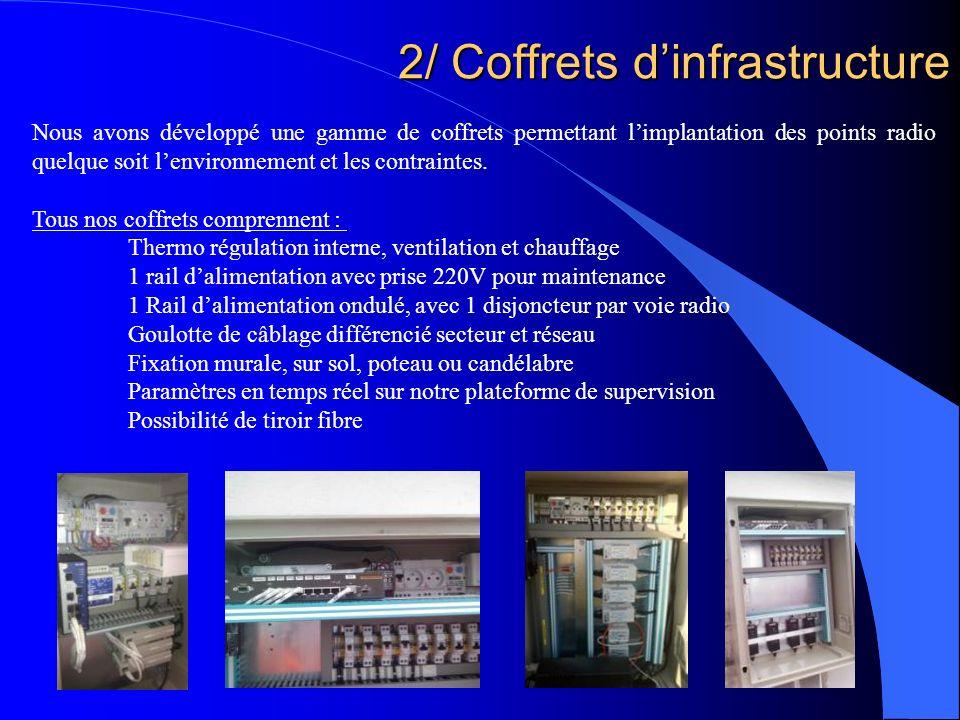 2/ Coffrets d'infrastructure