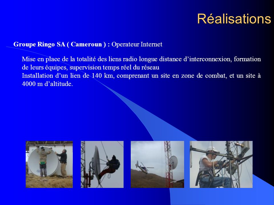 Réalisations Groupe Ringo SA ( Cameroun ) : Operateur Internet