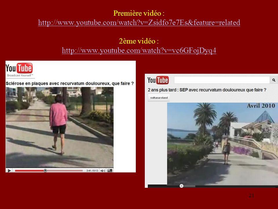 Première vidéo : http://www. youtube. com/watch