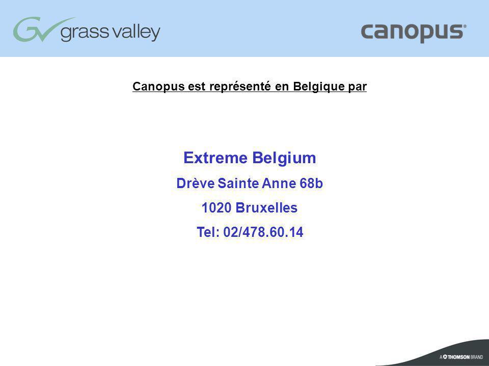 Canopus est représenté en Belgique par