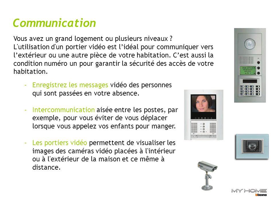 Communication Vous avez un grand logement ou plusieurs niveaux