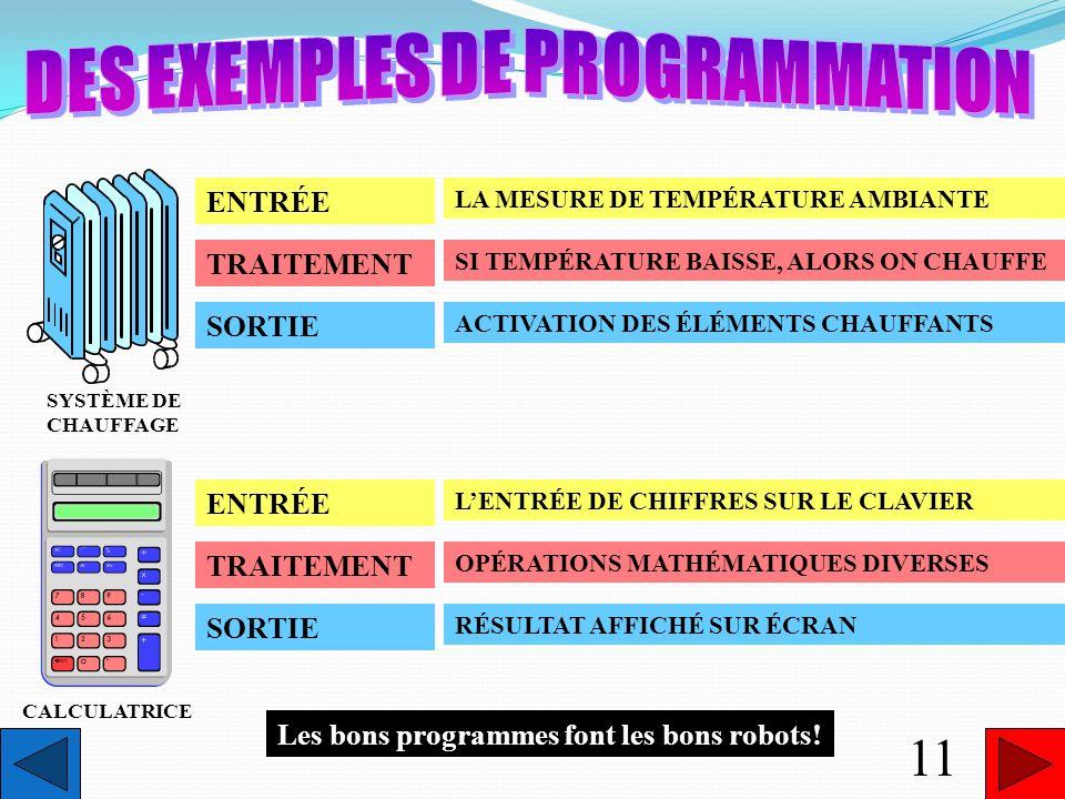 DES EXEMPLES DE PROGRAMMATION