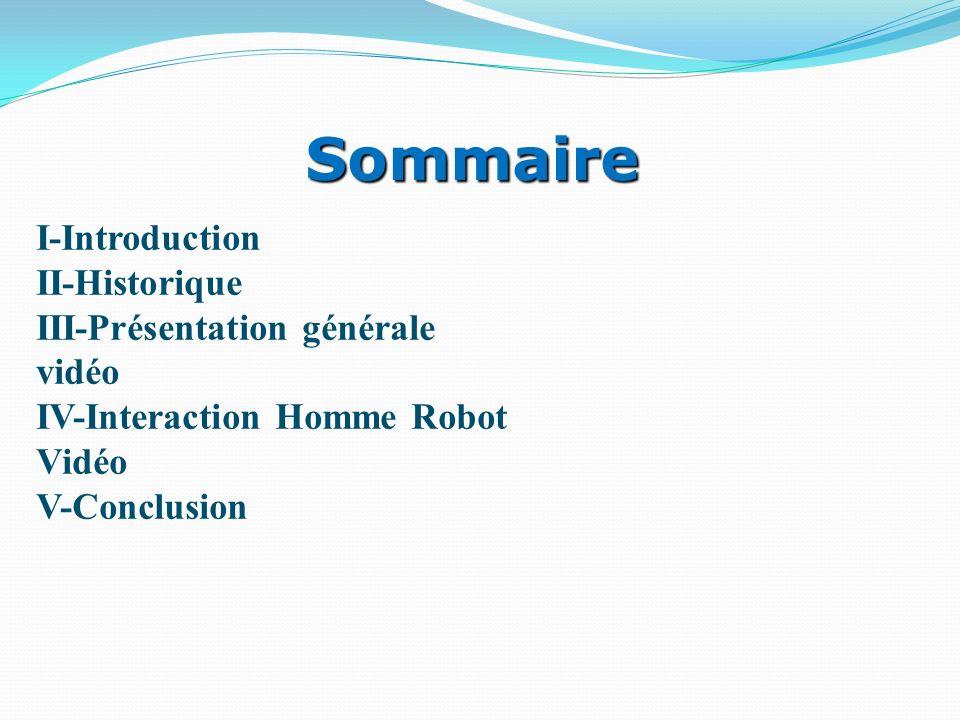 Sommaire I-Introduction II-Historique III-Présentation générale vidéo
