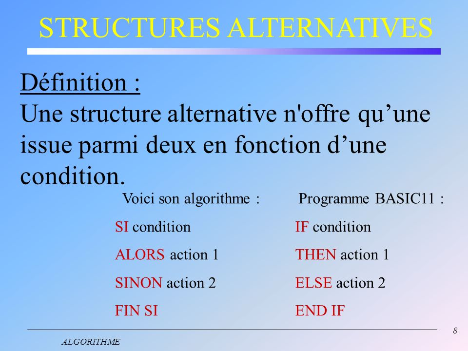 STRUCTURES ALTERNATIVES