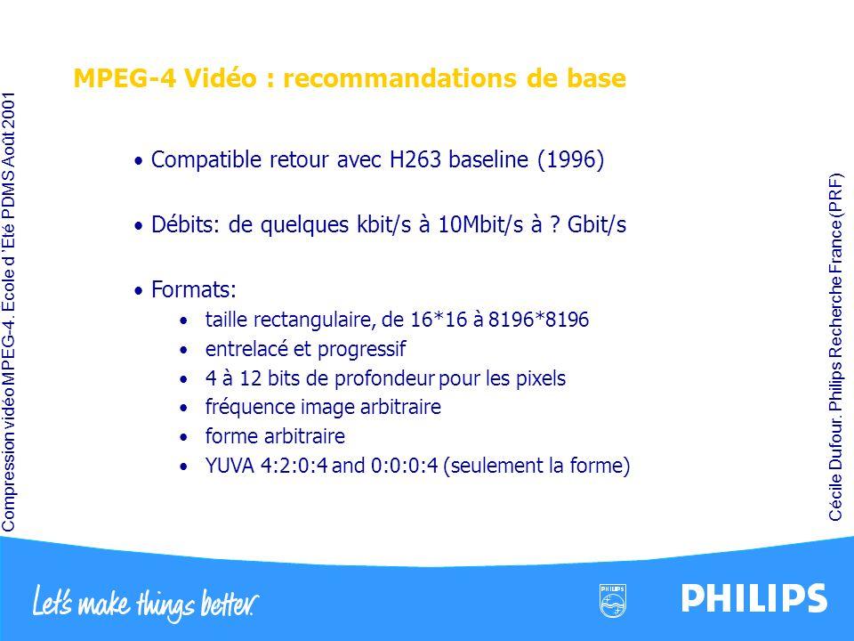 MPEG-4 Vidéo : recommandations de base