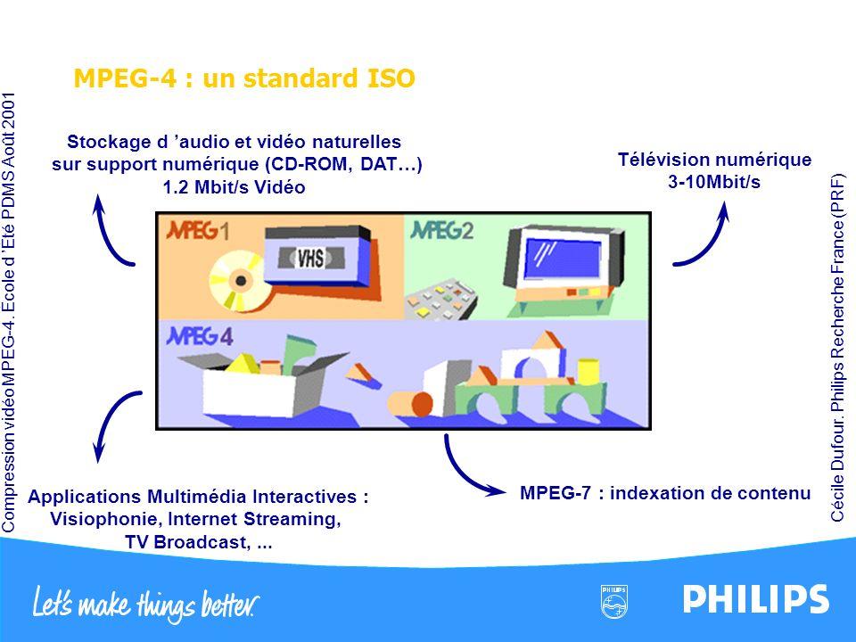 MPEG-4 : un standard ISO Stockage d 'audio et vidéo naturelles