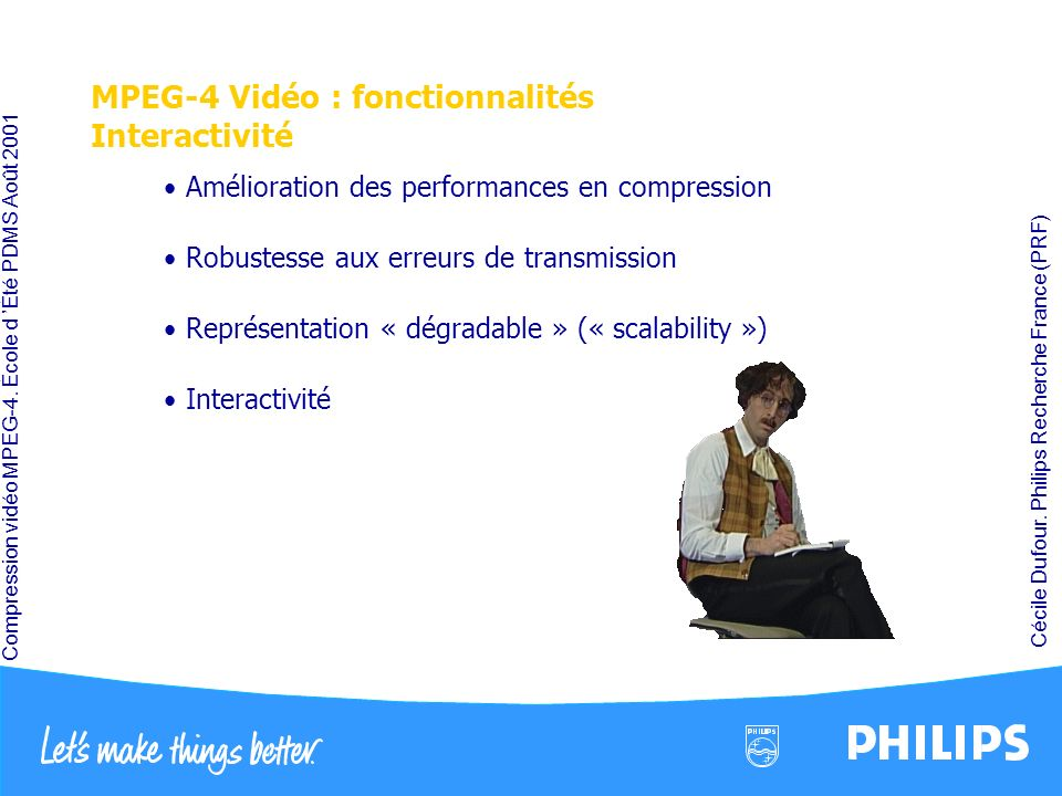 MPEG-4 Vidéo : fonctionnalités Interactivité