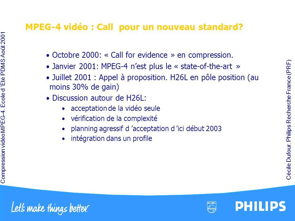 MPEG-4 vidéo : Call pour un nouveau standard