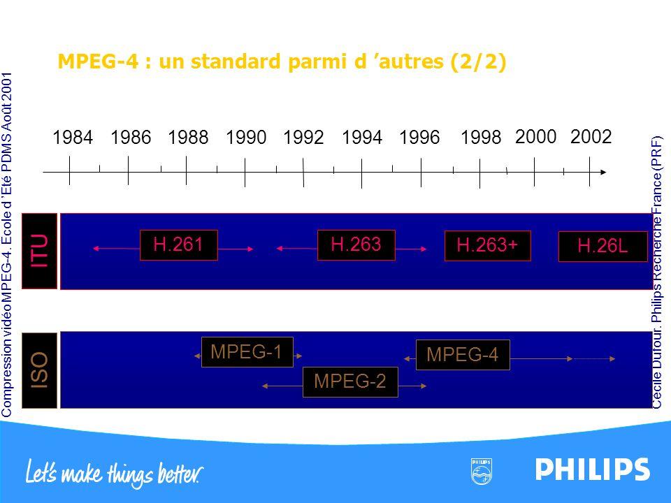 MPEG-4 : un standard parmi d 'autres (2/2)