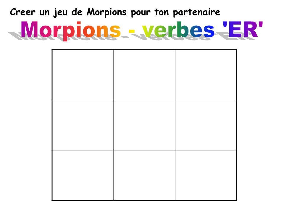 Creer un jeu de Morpions pour ton partenaire