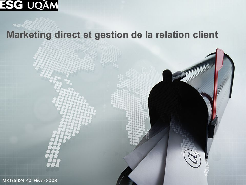 Marketing direct et gestion de la relation client