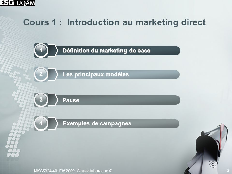 Cours 1 : Introduction au marketing direct