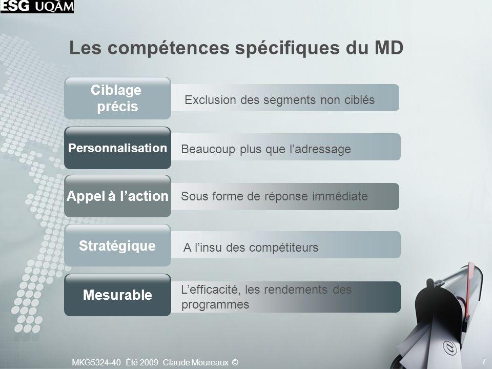 Les compétences spécifiques du MD