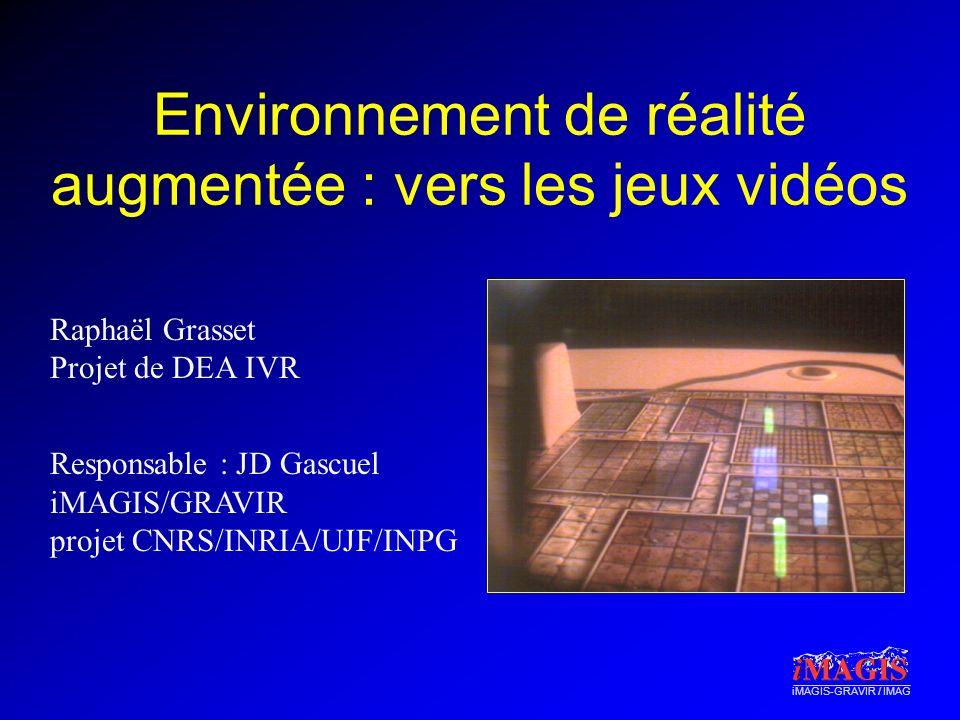 Environnement de réalité augmentée : vers les jeux vidéos