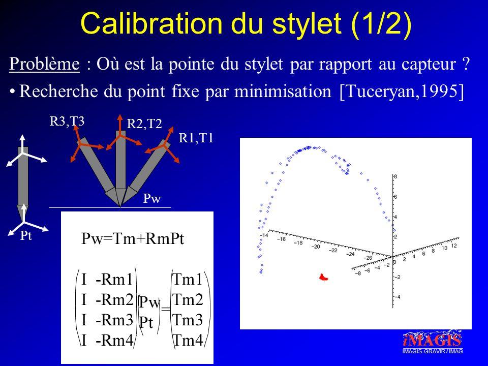 Calibration du stylet (1/2)