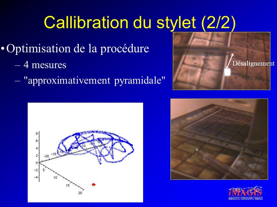Callibration du stylet (2/2)