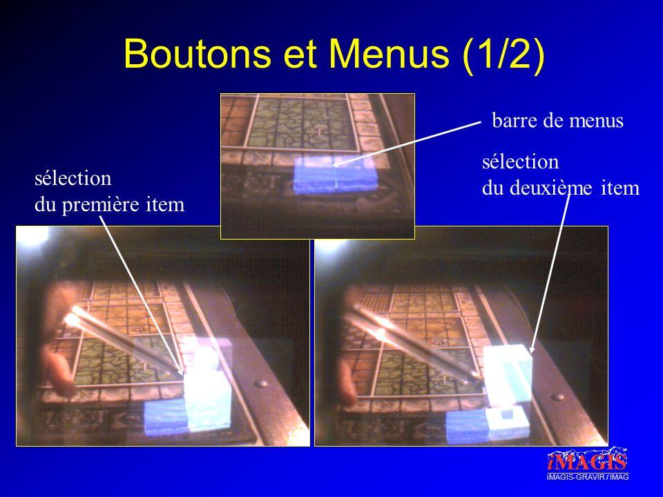 Boutons et Menus (1/2) barre de menus sélection du deuxième item
