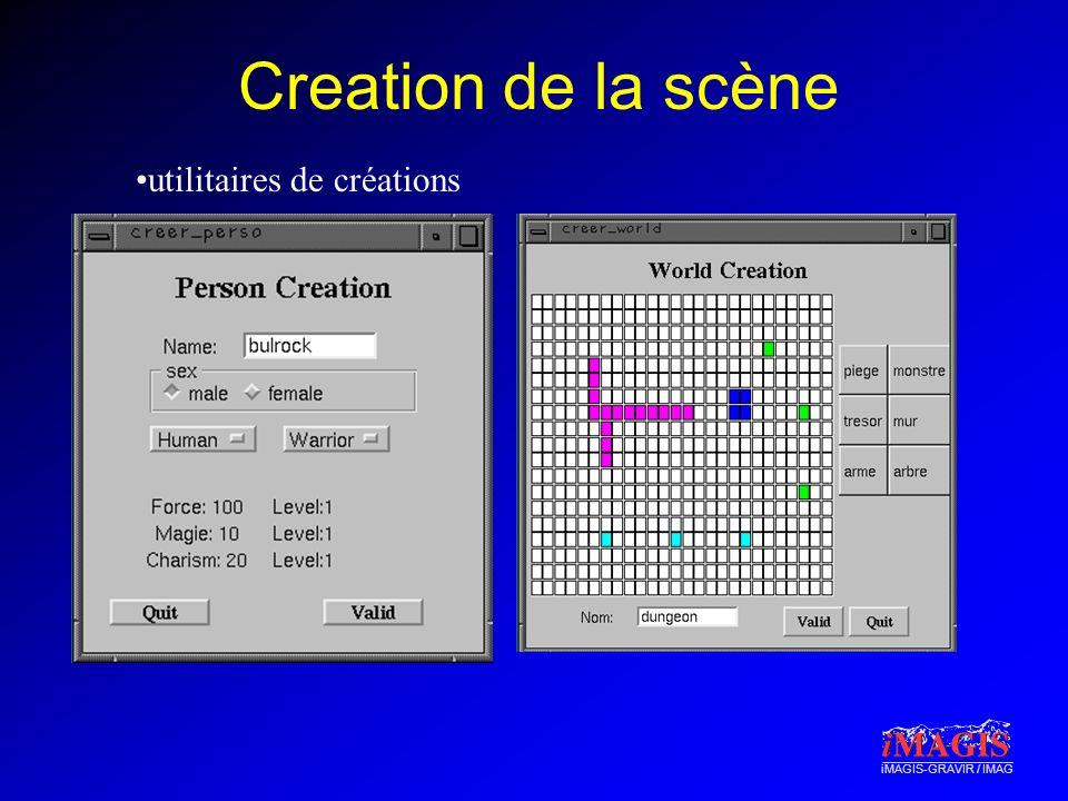 Creation de la scène utilitaires de créations