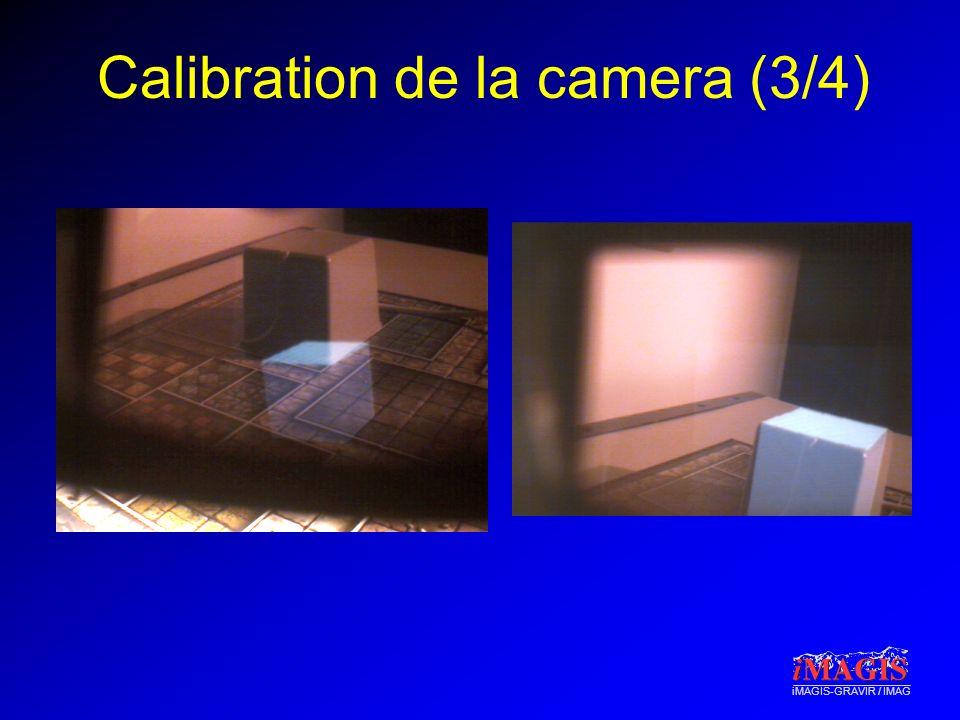 Calibration de la camera (3/4)