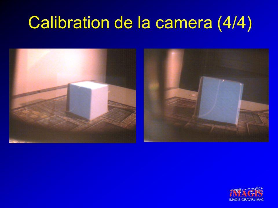 Calibration de la camera (4/4)
