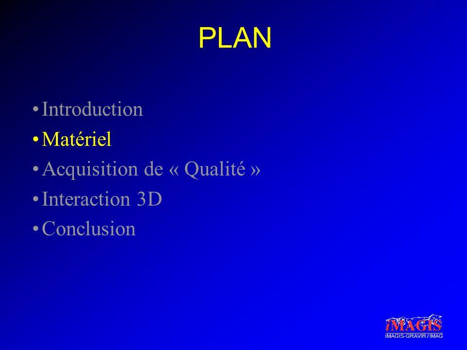 PLAN Introduction Matériel Acquisition de « Qualité » Interaction 3D