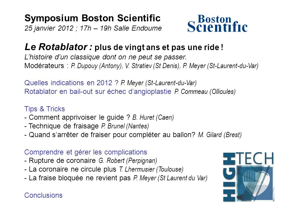 Symposium Boston Scientific