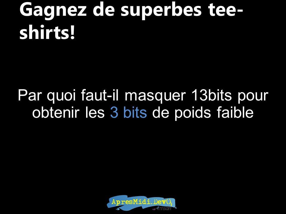 Gagnez de superbes tee-shirts!