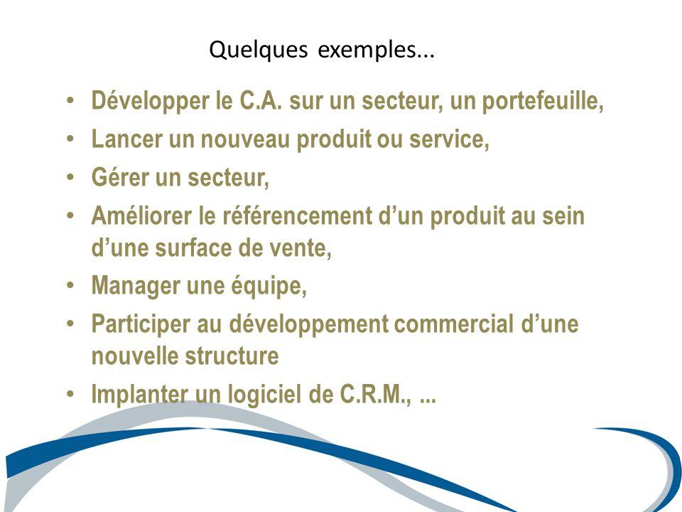 Développer le C.A. sur un secteur, un portefeuille,