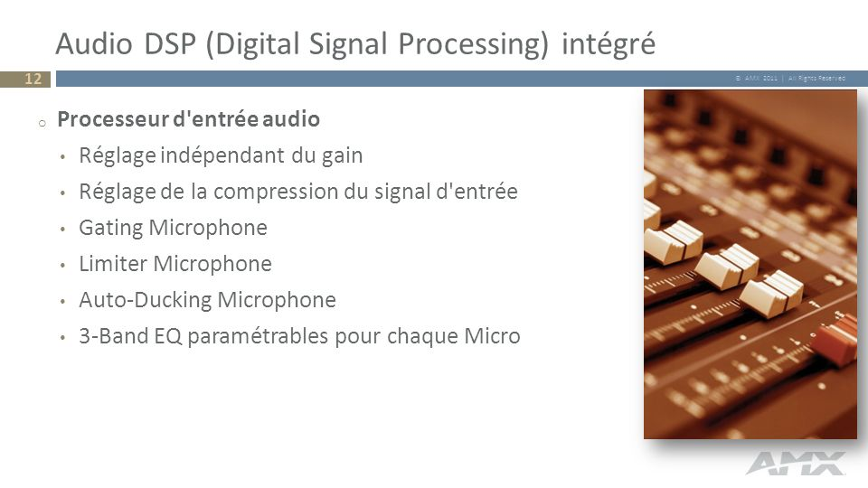 Audio DSP (Digital Signal Processing) intégré
