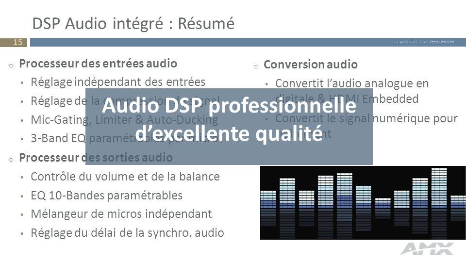 DSP Audio intégré : Résumé